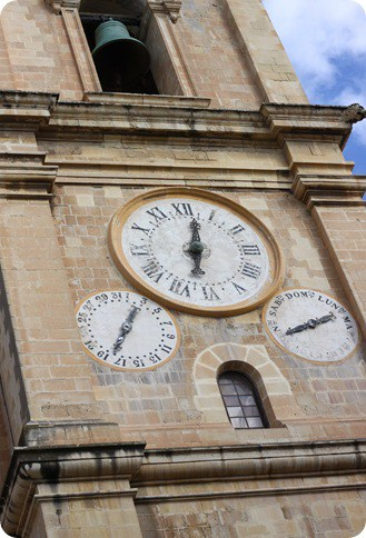 A Clock on the Island of Malta