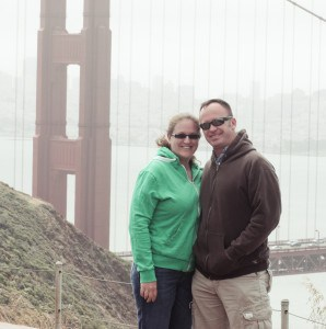 Celebrating our anniversary in San Francisco, California