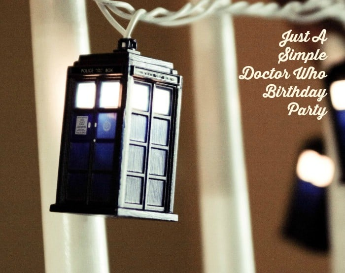 Just A Simple Doctor Who Birthday Party