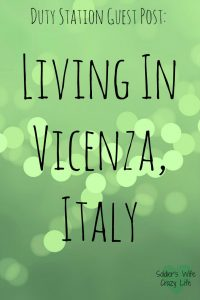 Living In Vicenza, Italy