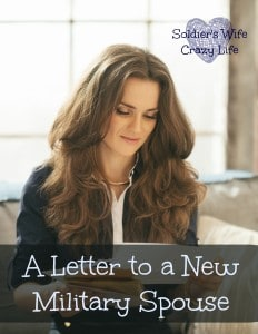 A Letter To A New Military Spouse