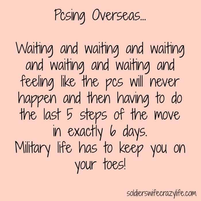 Pcsing Overseas