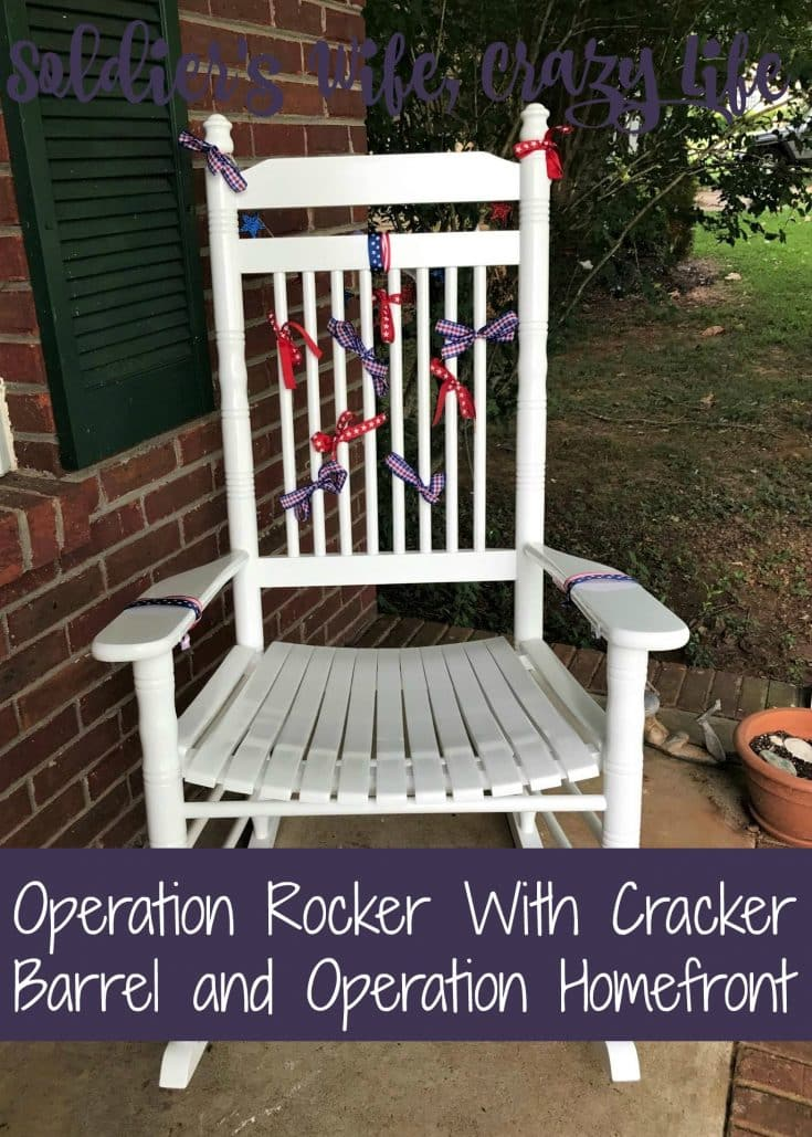 Operation Rocker With Cracker Barrel And Operation Homefront
